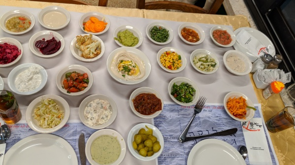 Fresh salads in HOLY LAND by DOn Karl Juravin