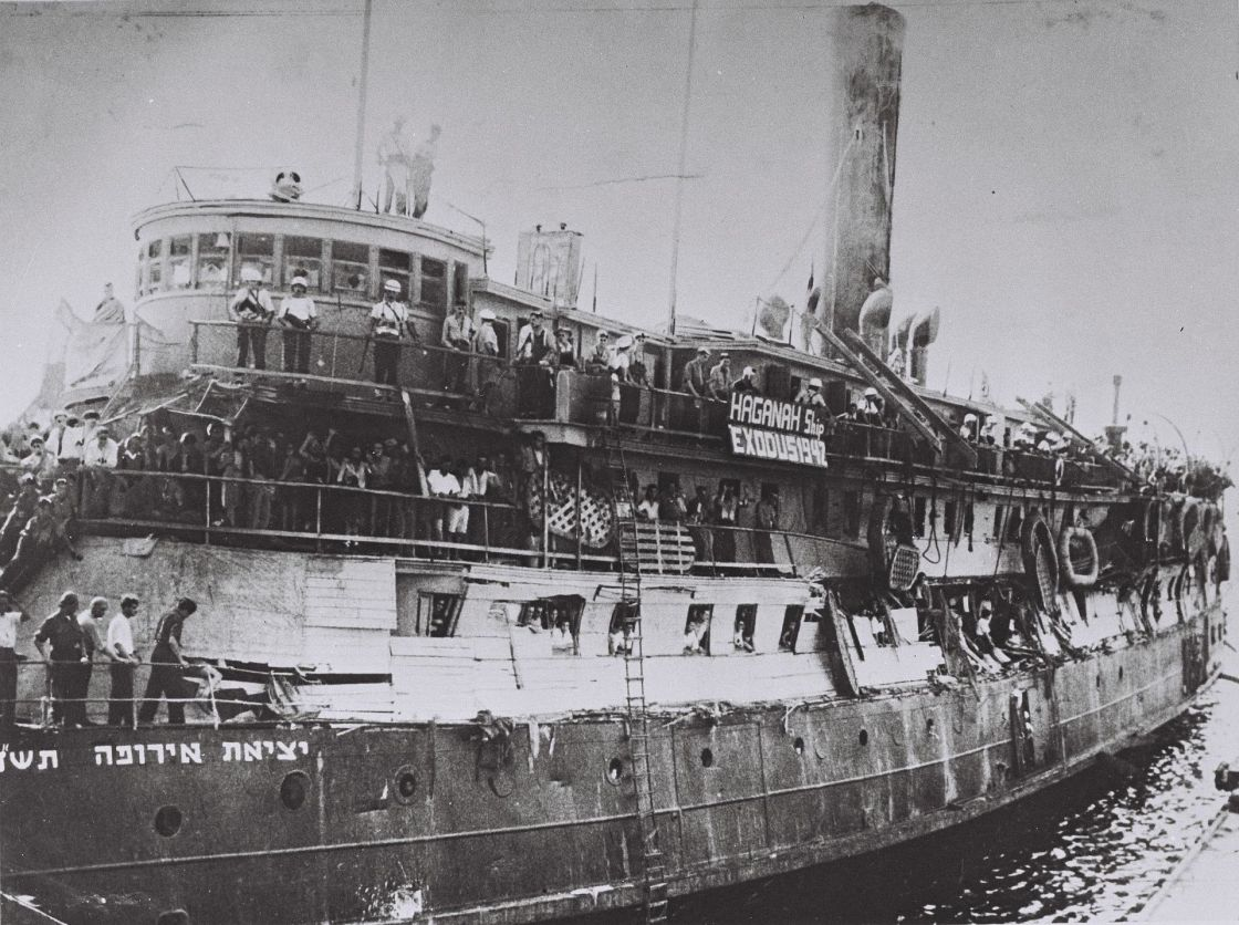 Exodus ship 1947 Juravin family on route to the Holy Land