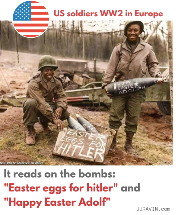 Happy Easter bombs from WW2 by US soldiers - seriously funny by JURAVIN