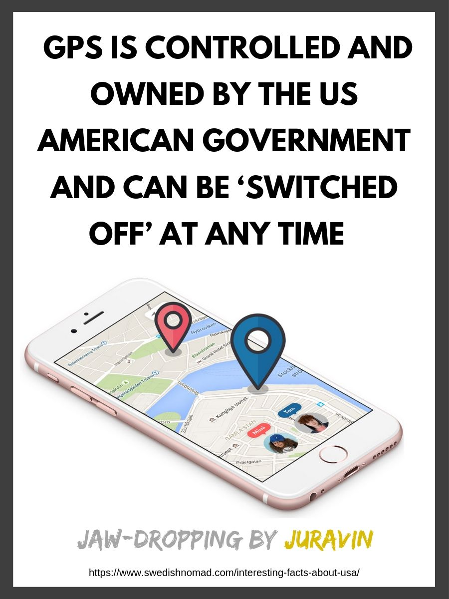 GPS is controlled by the US government